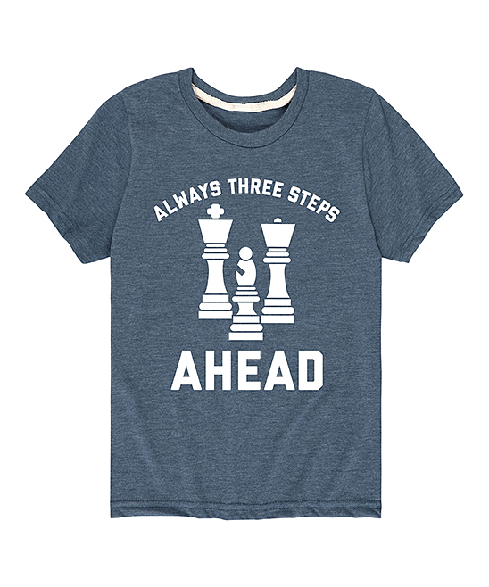 Instant Message  Tee Shirts HEATHER - Heather Blue 'Always Three Steps Ahead' Tee - Toddler & Kids