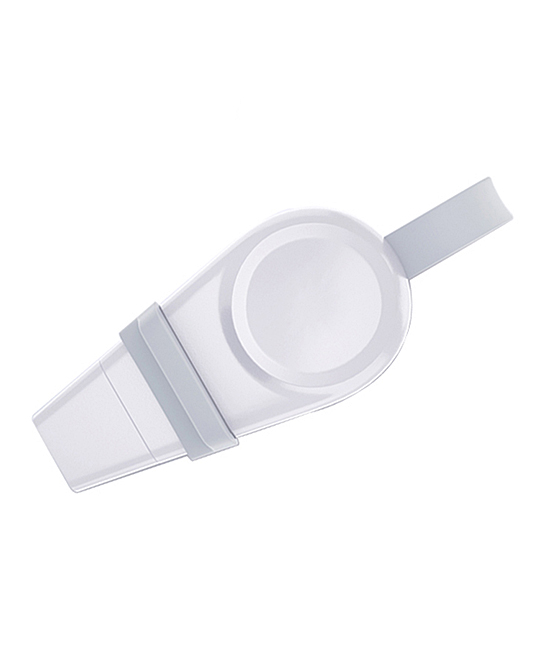 White Portable USB Wireless Charger for Apple Watch White Portable USB Wireless Charger for Apple Watch. Streamline your day-to-day routines through innovation thanks for this charger, featuring a wireless composition and optimal portability.2.4'' W x 0.4'' H x 1.2'' DABSAutomatically absorbs and charges watchesInput 5V/1AOutput: 2.5WSutible for: Apple Watch series 1 / 2 / 3 / 4Imported