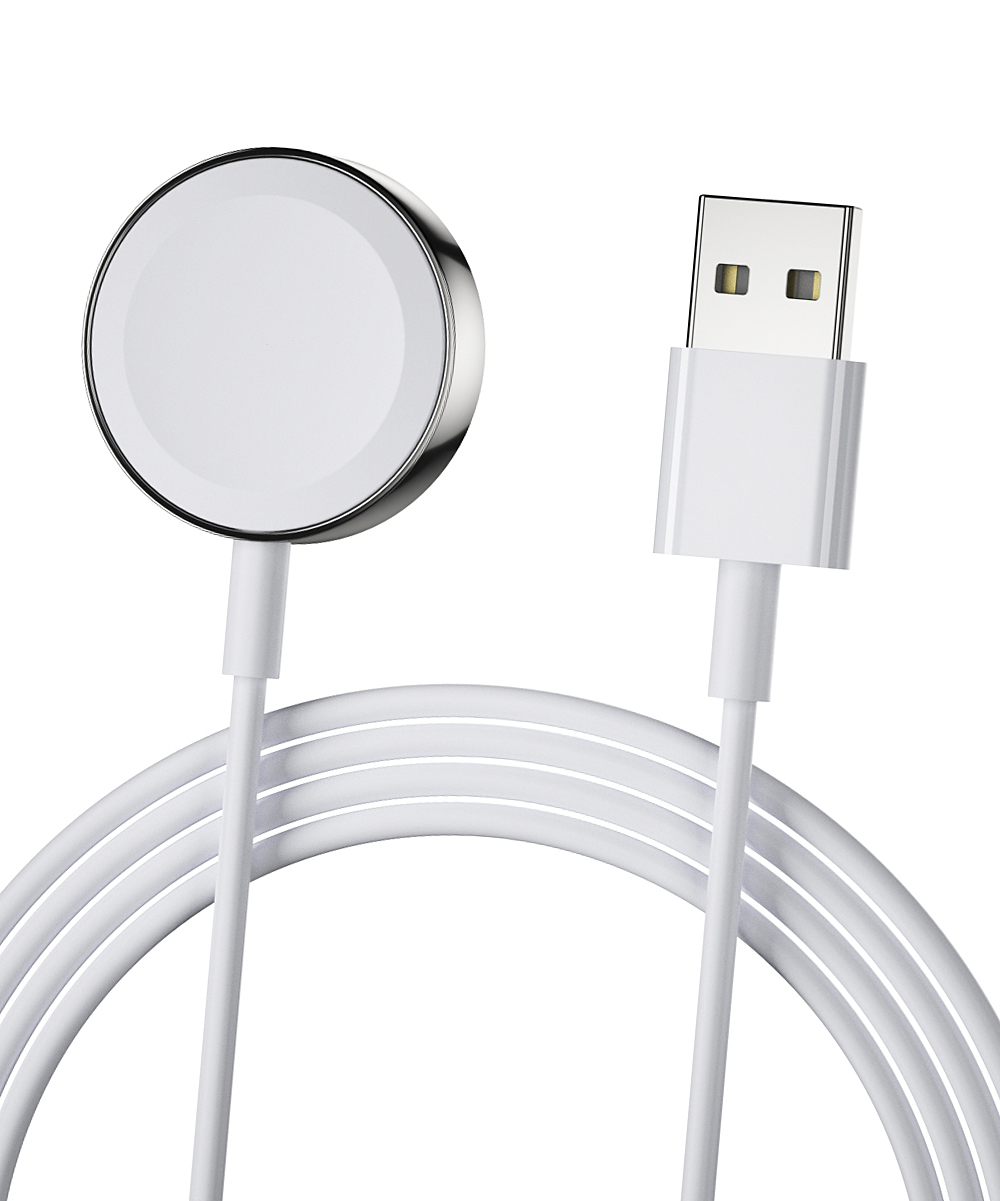 Essager  Portable Chargers White - White Magnetic Wireless Charging Cable for Apple Watch