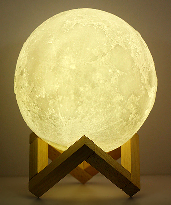 FunBlue  Humidifiers white - White Moon Lamp Humidifier & Stand White Moon Lamp Humidifier & Stand. Refresh your living space or office with this artful humidifier, featuring a futuristic composition. 5.12'' diameterPVC / polypropyleneImported