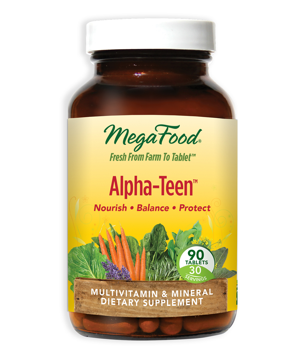 MegaFood  Vitamins & Supplements  - 90-Ct. Alpha-TeenTM Dietary Supplements 90-Ct. Alpha-TeenTM Dietary Supplements. Bolster their healthy living routine with these dietary supplements that offer multivitamins and minerals to help support overall well-being. Includes one bottle of 90 tablet supplements