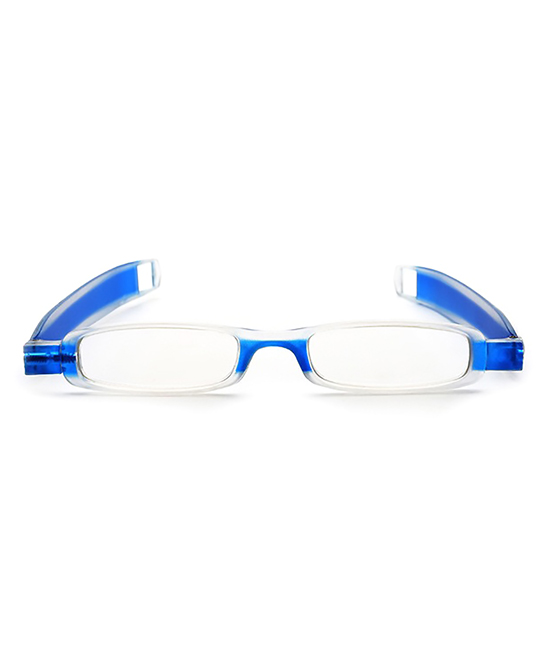 YK Glasses  Reading Glasses blue - Blue Folding Rectangle Readers