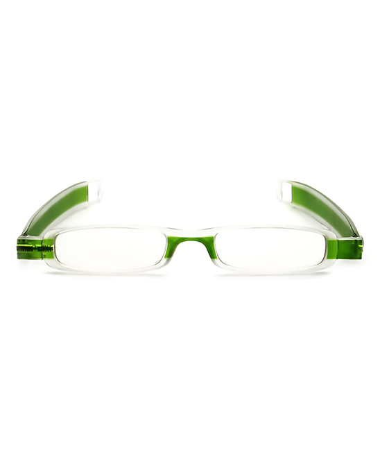 YK Glasses  Reading Glasses green - Green Folding Rectangle Readers