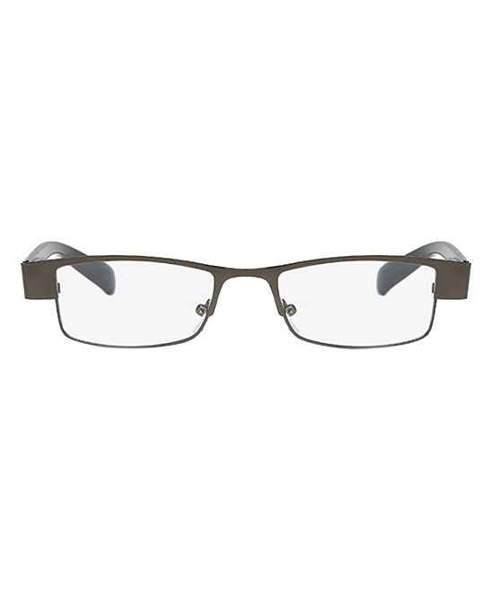 AOOFFIV  Reading Glasses gun - Gray Thin Rectangle Readers