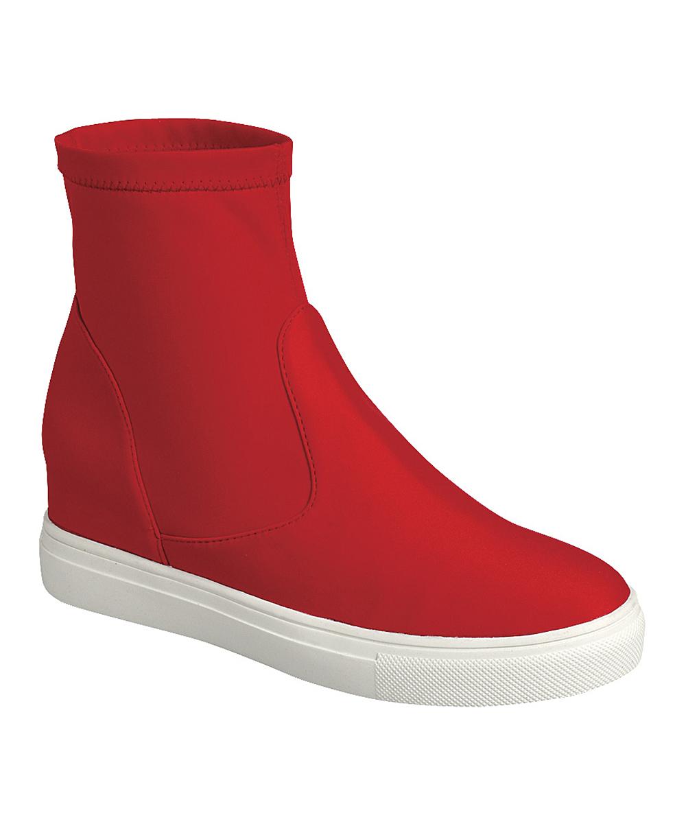 Forever Link Shoes Women's Sneakers RED - Red Hidden Sock Sneaker - Women