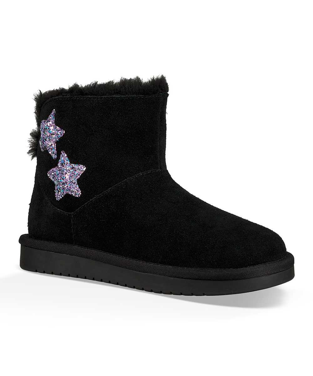 96781ef73e9 Koolaburra by UGG® Black Koola Star Mini Glitter Suede Boot - Girls