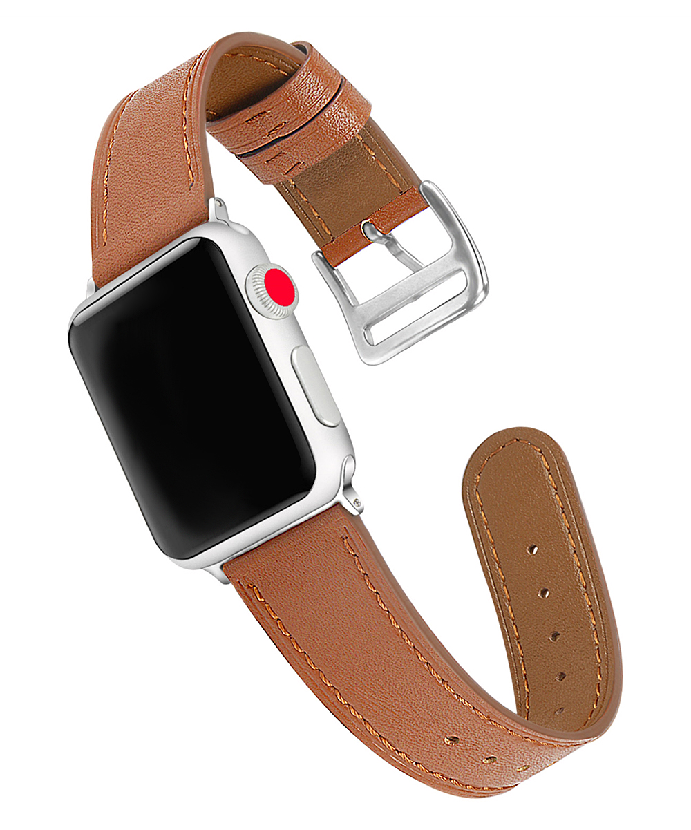BXD  Smart Watches Brown - Brown Leather Band Replacement for Apple Watch