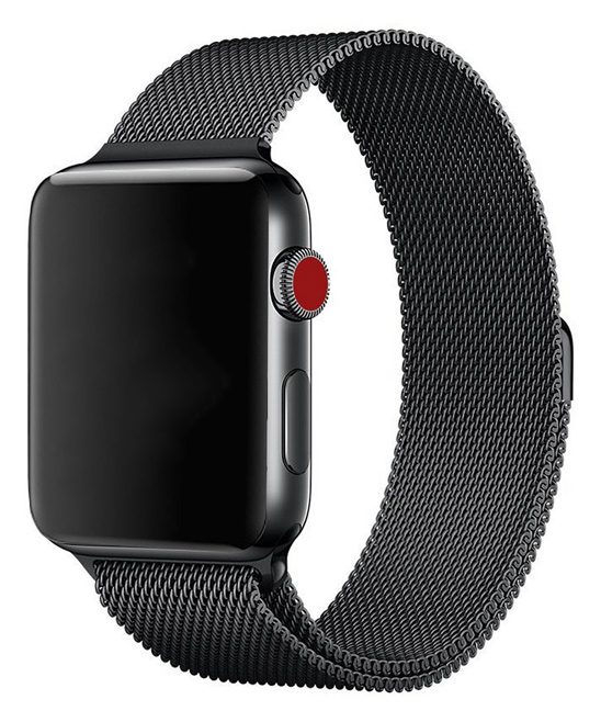 Essager  Replacement Bands Black - Black Stainless Steel Band Replacement for Apple Watch