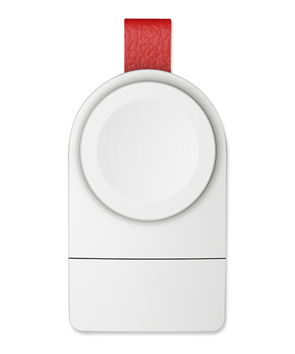 Shou  Apple Watch Cables White - White & Red Wireless Apple Watch Charger White & Red Wireless Apple Watch Charger. Upgrade your Apple Watch charger to a cable-free experience with this convenient charger that simply plugs into any USB outlet. ABS / PolycarbonateImported