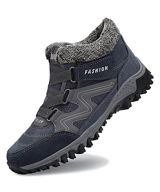 Gray Fuzzy-Cuff Suede All-Terrain Shoe - Women