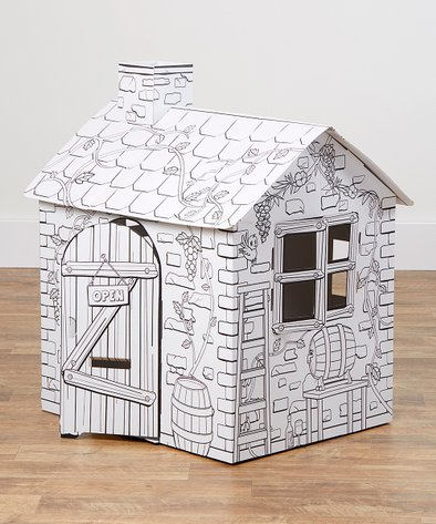 BodyHealt My Little Rattan House Coloring Playhouse | Zulily
