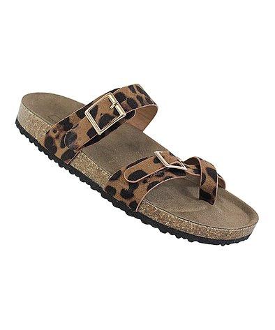 Yoki Leopard Toe-Loop Gian Sandal