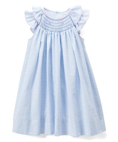 Milkbarn Infant Peasant Dress with Bloomer Lavender Hedgehog Purple Organic New