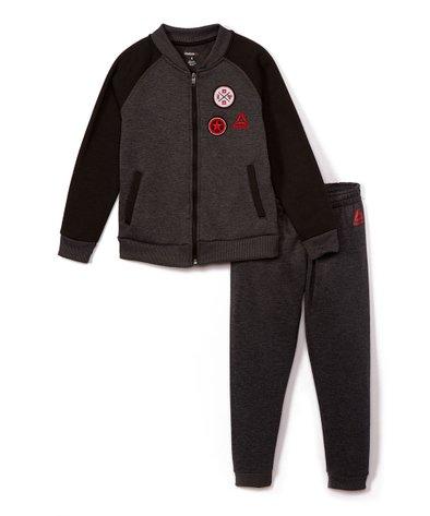 Reebok Boys Fleece Varsity Jacket