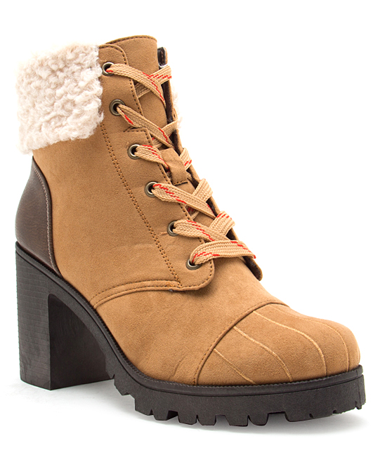 Qupid Women's Casual boots CAPS - LACE UP HIKING BOOT - Women