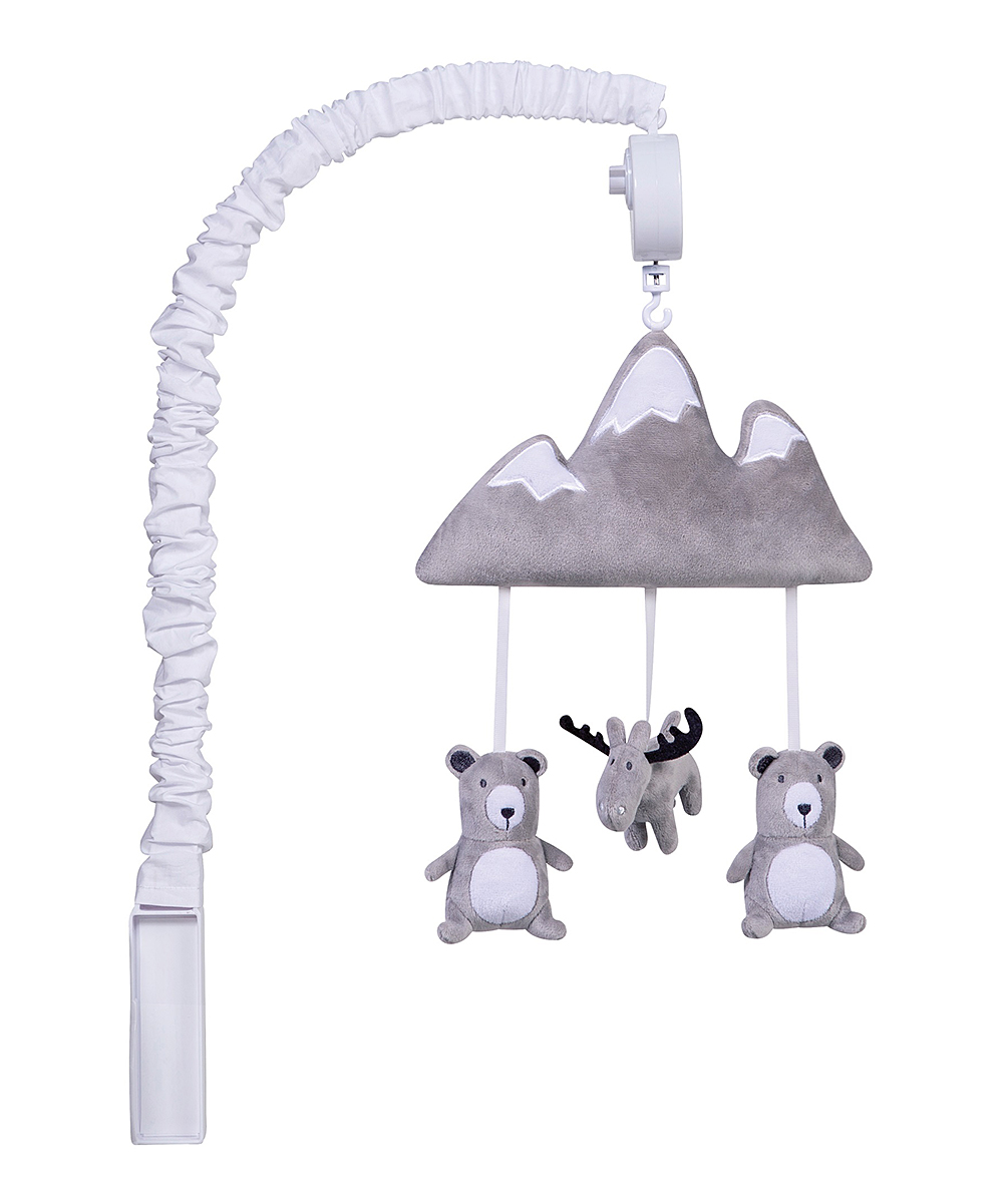 Trend Lab   Gray, - Gray Forest Mountain Musical Crib Mobile
