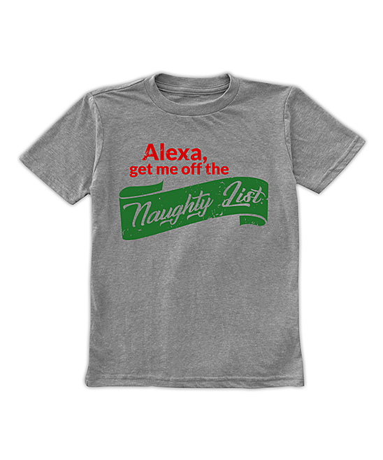 Heather Gray 'Alexa Get Me off the Naughty List' Tee - Toddler & Kids