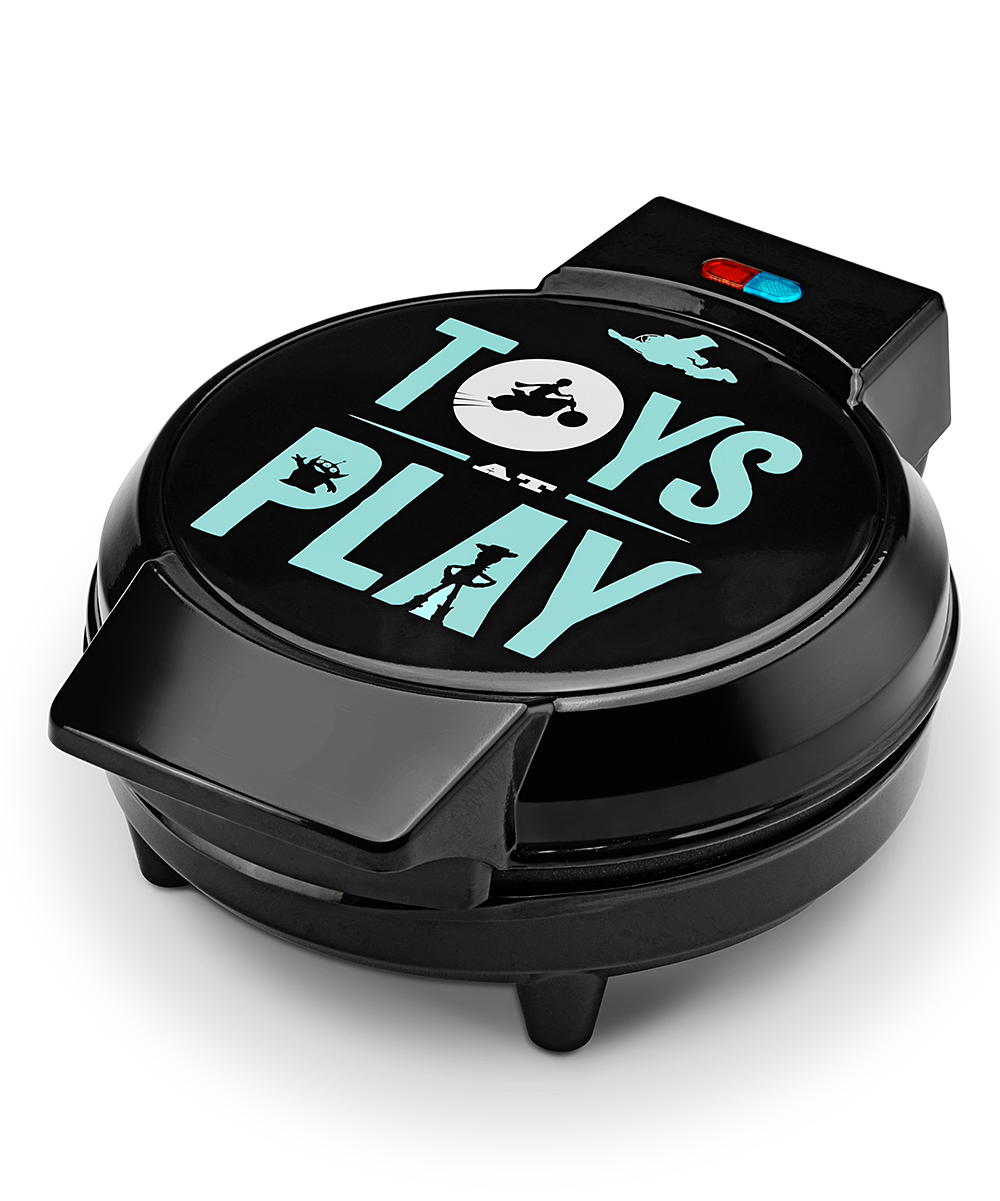 Select Brands  Waffle Makers  - Toy Story 4 Character Waffle Maker Toy Story 4 Character Waffle Maker. Bring your Disney fandom into the kitchen with this sleek waffle maker that features your favorite Toy Story 4 characters. Full graphic text: Toys at play.20.9'' W x 15.2'' H x 11.22'' DPlastic / metalHand washImported