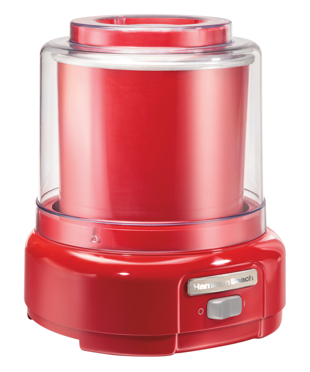 Hamilton Beach  Ice Cream Makers RED - 1.5 Quart Ice Cream Maker 1.5 Quart Ice Cream Maker. From froyo to gelato, this ice cream maker features an easy on/off switch and easy-to-follow recipes to conveniently create family favorite sweet treats.9.9'' W x 14'' H x 9.9'' D1.5-qt.PlasticImported