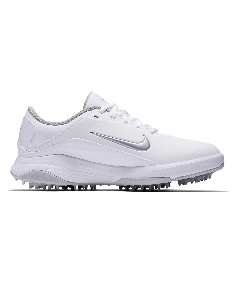 Nike Women's Golf Shoes White/Metallic - White & Metallic Silver Pure Platinum Vapor Golf Shoe - Women