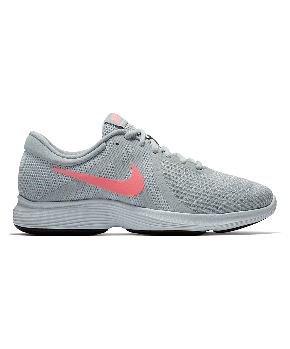Nike Women's Running Shoes Pure - Pure Platinum & Sunset Pulse Revolution 4 Wide-Width Running Shoe - Women