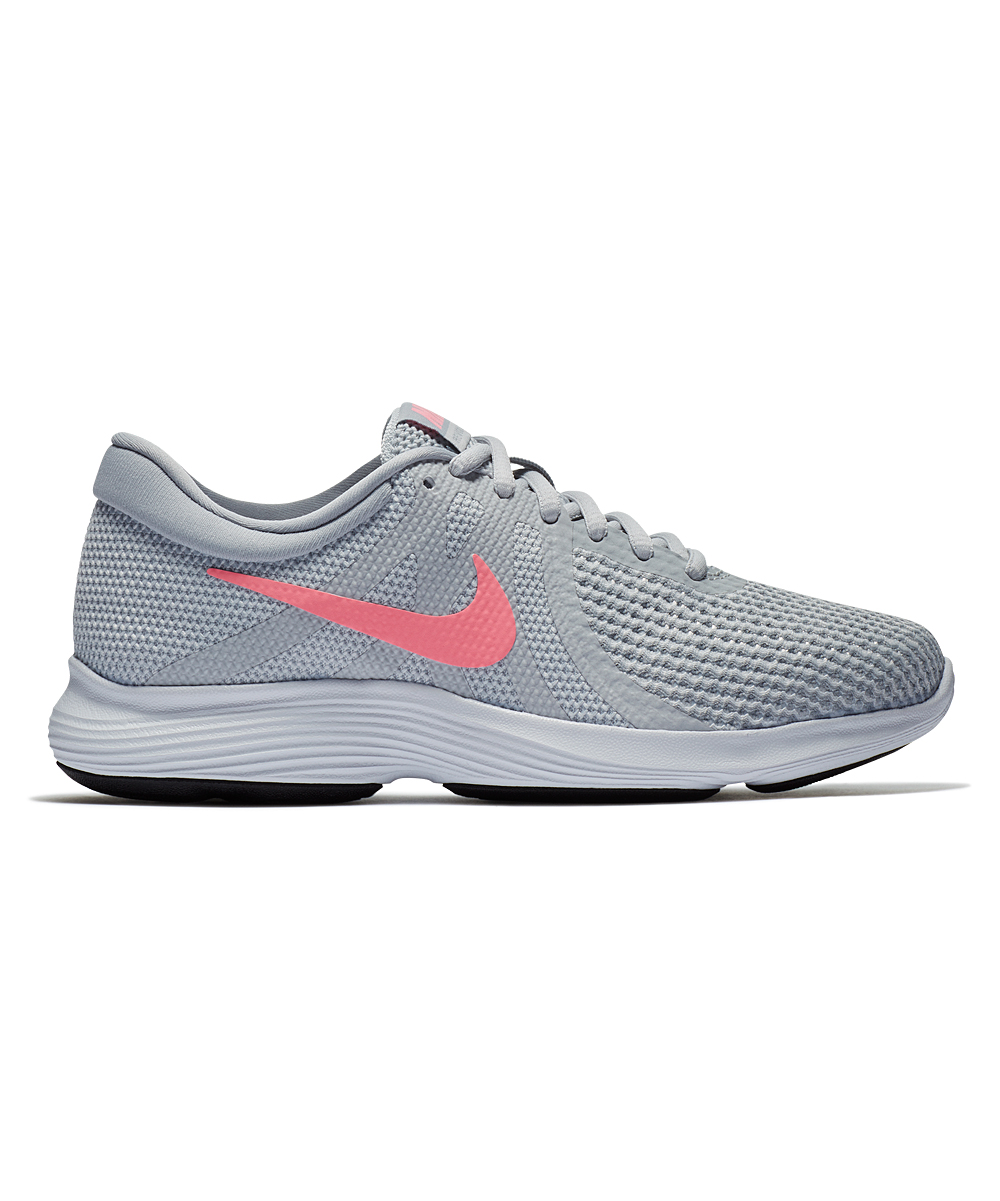 Nike Women's Running Shoes Pure - Pure Platinum & Sunset Pulse Revolution 4 Running Shoe - Women