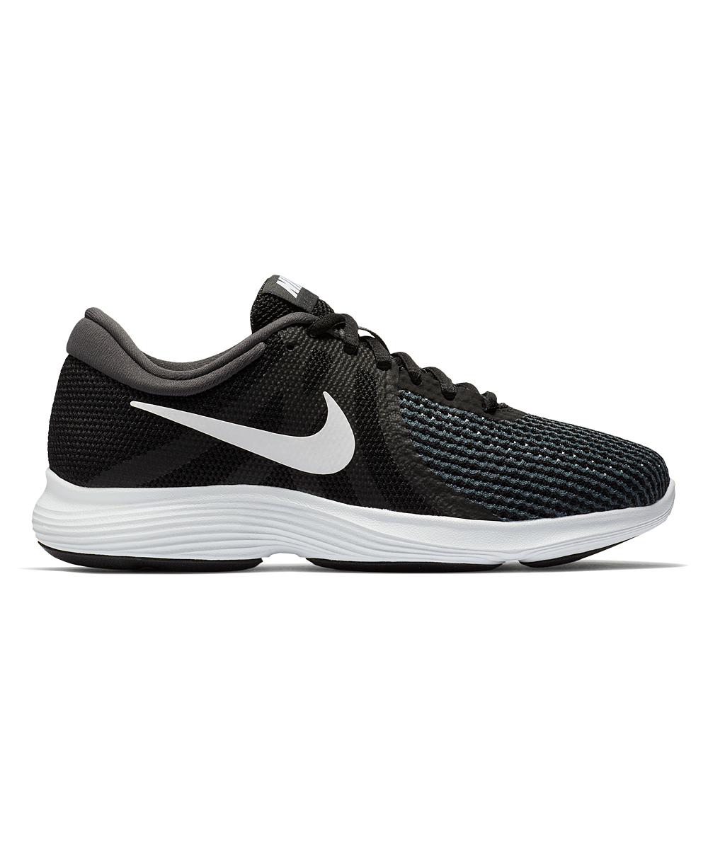 Nike Women's Running Shoes Black/White - Black & Anthracite Revolution 4 Wide-Width Running Shoe - Women
