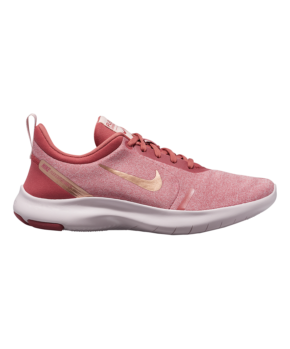 Nike Women's Running Shoes Light - Light Redwood & Metallic Red Bronze Flex Experience Run 8 Wide-Width Running Shoe - Women