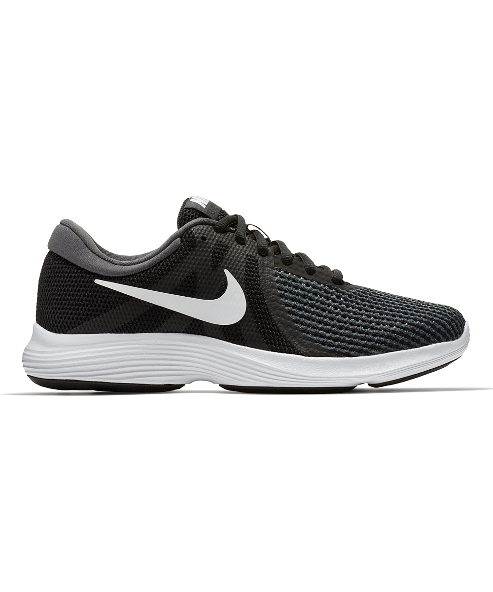 Nike Women's Running Shoes Black/White - Black & White Revolution 4 Running Shoe - Women