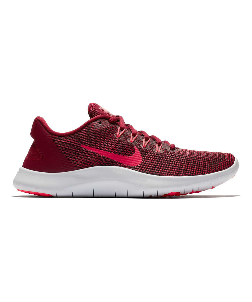 Nike Women's Running Shoes Team - Team Red & Flash Crimson Flex 2018 Running Shoe - Women
