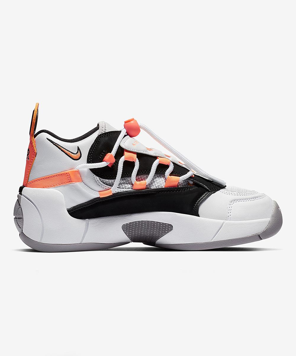 Nike Women's Basketball Shoes White/Orange - White & Orange Pulse Air Swoopes II Basketball Sneaker - Women