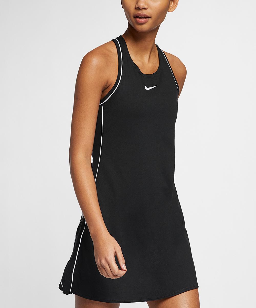 Nike Women's Casual Dresses Black/White/White/White - Black & White Court Dri-FIT Tennis Dress - Women