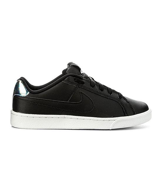 Nike Women's Sneakers Black/Metallic - Black & Metallic Silver Court Royale Sneaker - Women