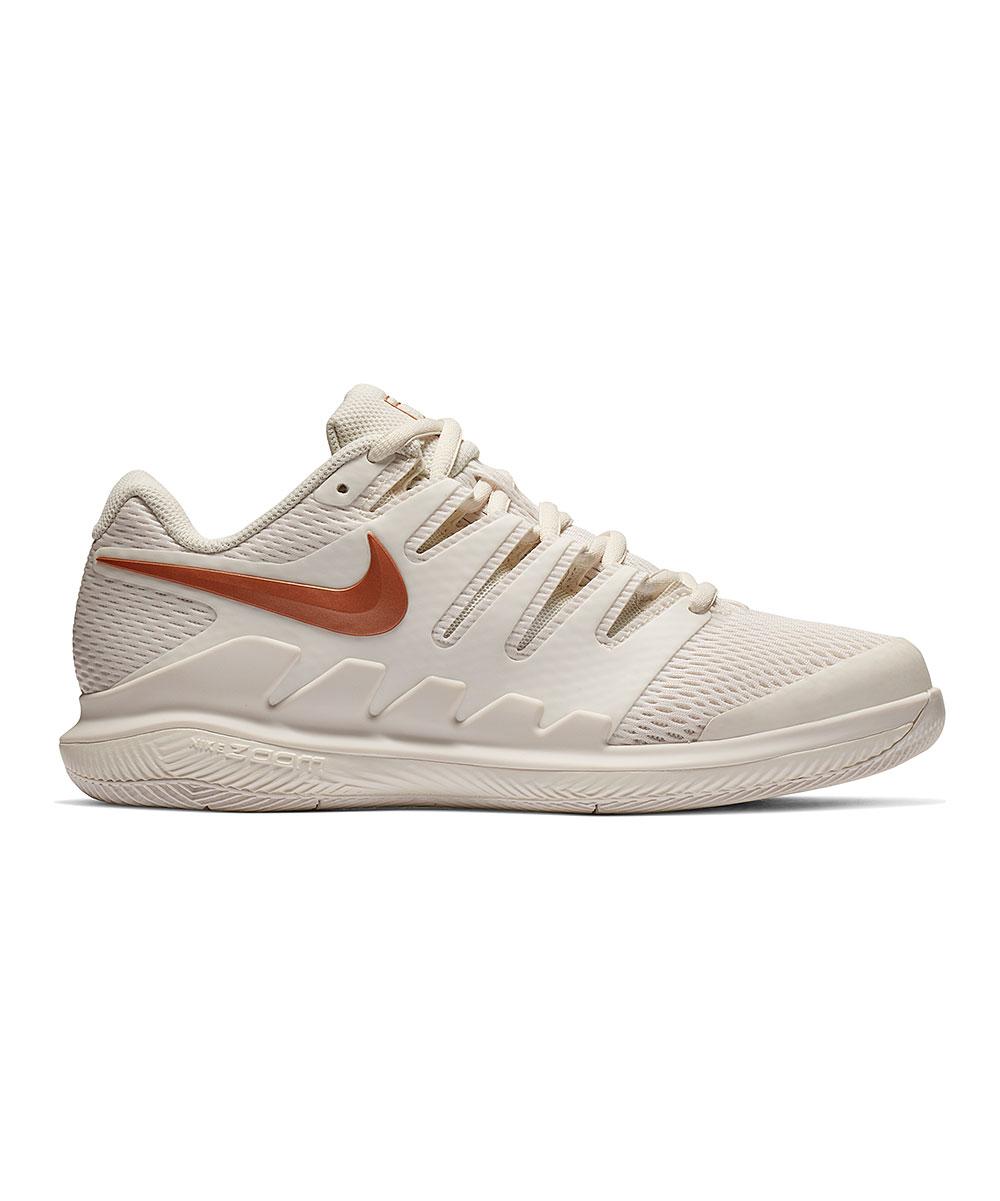 Nike Women's Sneakers Phantom/Metallic - Phantom & Metallic Rose Gold Rose Goldair Zoom Vapor X Hc Tennis Shoe - Women