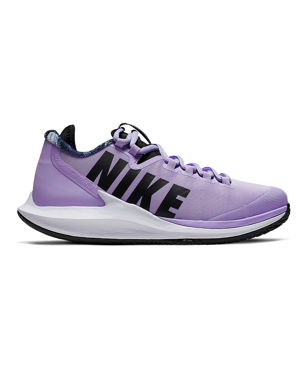 Nike Women's Sneakers Purple - Purple Agate & Black Air Zoom Zero Tennis Shoe - Women