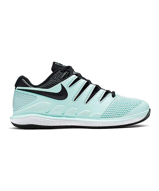 Nike Women's Sneakers Teal - Teal Tint & Black White Air Zoom Vapor X Hc Tennis Shoe - Women