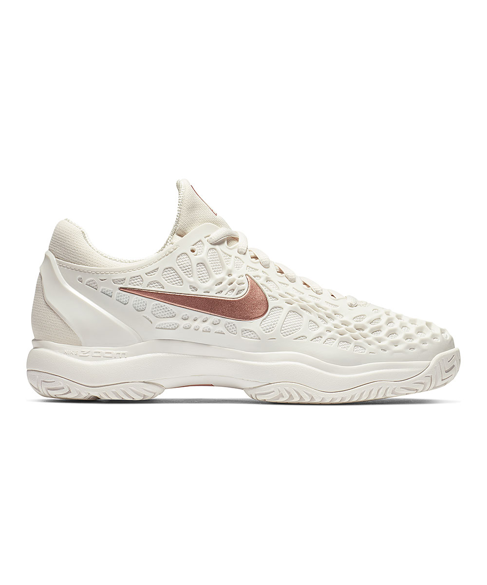 Nike Women's Sneakers Phantom/Metallic - Phantom & Metallic Rose Gold Air Zoom Cage 3 Tennis Shoe - Women