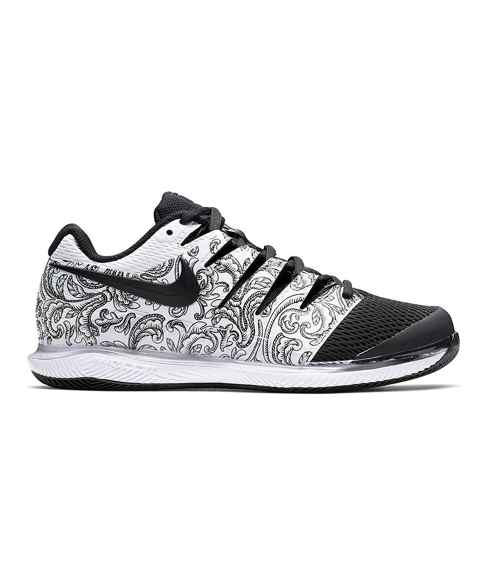 Nike Women's Sneakers White/Black - White & Black Air Zoom Vapor X Hc Tennis Shoe - Women