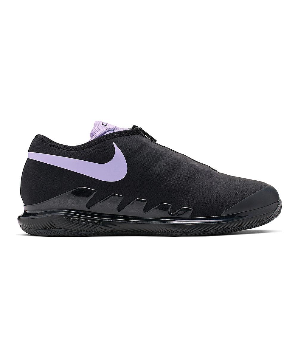 Nike Women's Sneakers Black/Purple - Black & Purple Agate Air Zoom Vapor X Glove Tennis Shoe - Women