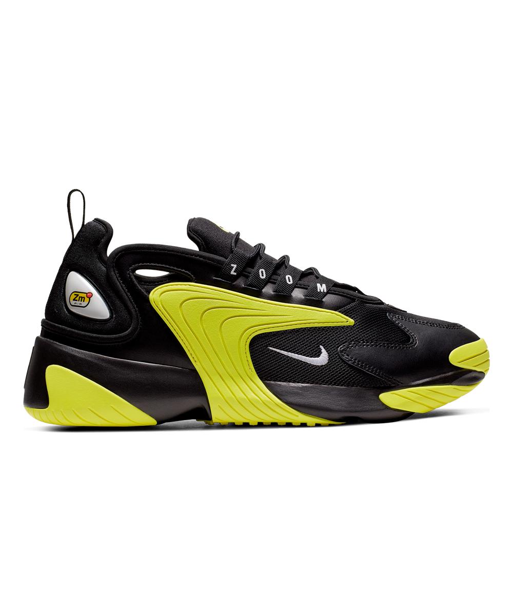 Nike Men's Sneakers Black/White - Black & Dynamic Yellow Zoom 2K Sneaker - Men