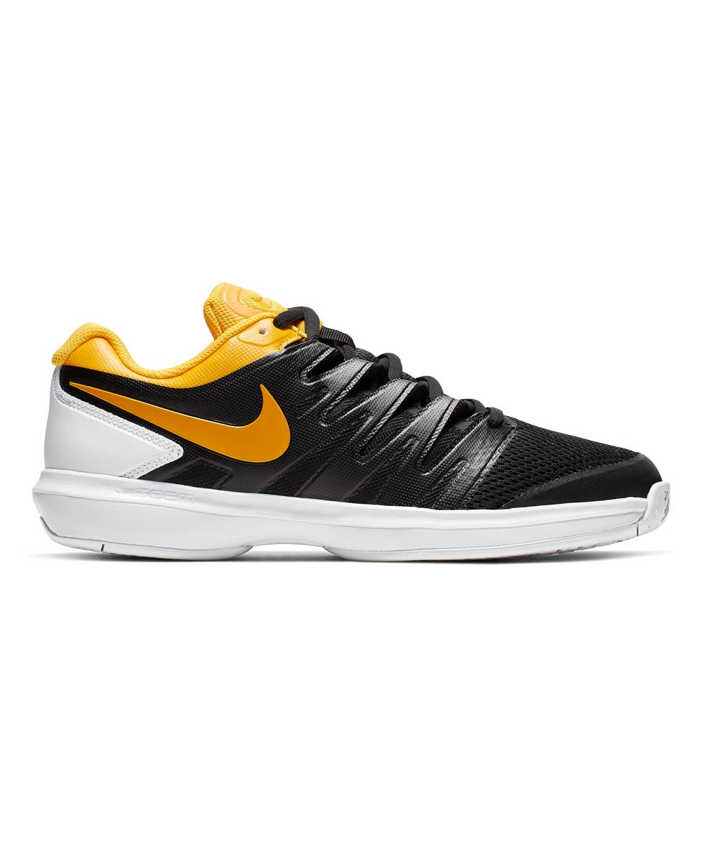 Nike Men's Sneakers Black/University - Black & University Gold Zoom Prestige Hard Court Sneaker - Men