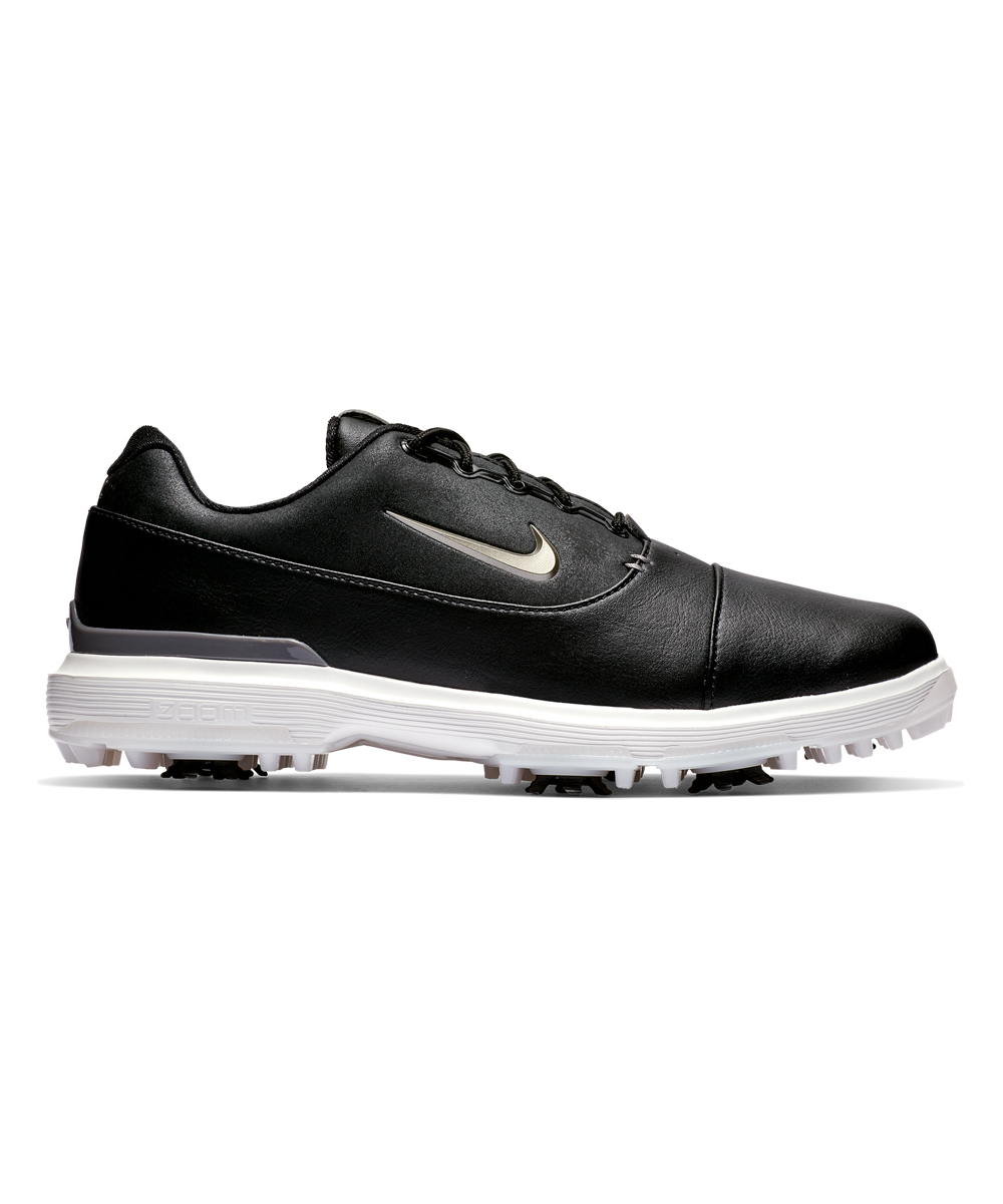 Nike Men's Golf Shoes Black/Metallic - Black & Summit White Zoom Victory Pro Leather Golf Shoe - Men
