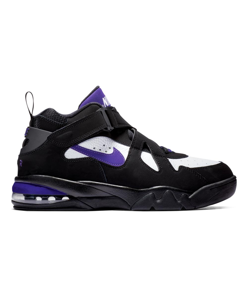 Nike Men's Sneakers Black/Court - Black & Court Purple Air Force Max CB Leather Basketball Sneaker - Men