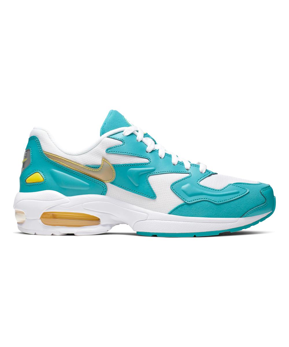 Nike Men's Sneakers White/Dynamic - White & Teal Nebula Air Max2 Light Sneaker - Men