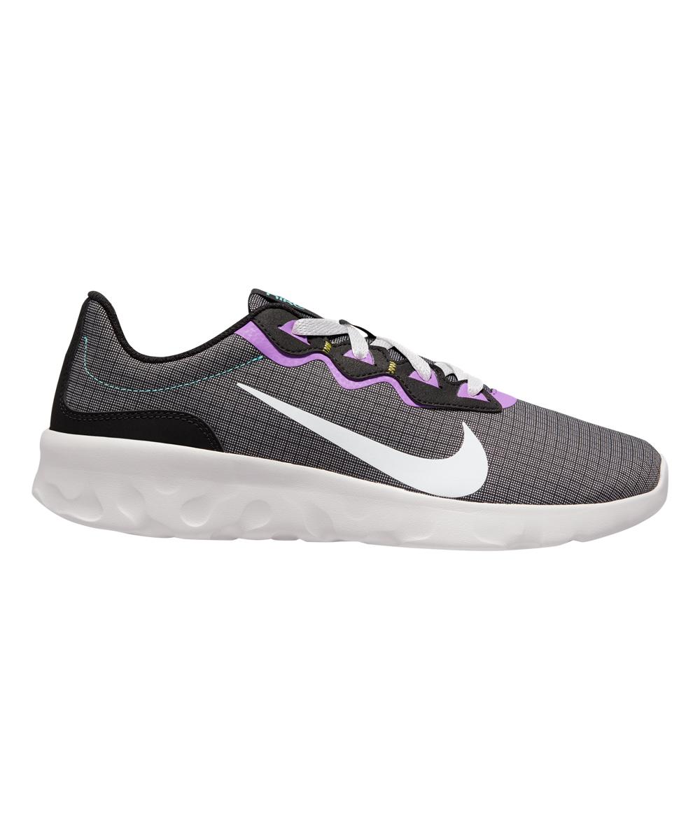 Nike Men's Running Shoes Black/White - Black & Dynamic Purple Explore Strada Running Shoe - Men