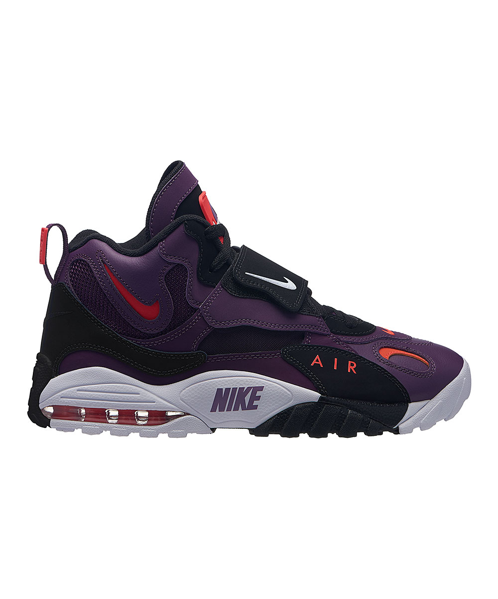 Nike Men's Sneakers Night - Night Purple & White Air Max Speed Turf Leather Basketball Sneaker - Men
