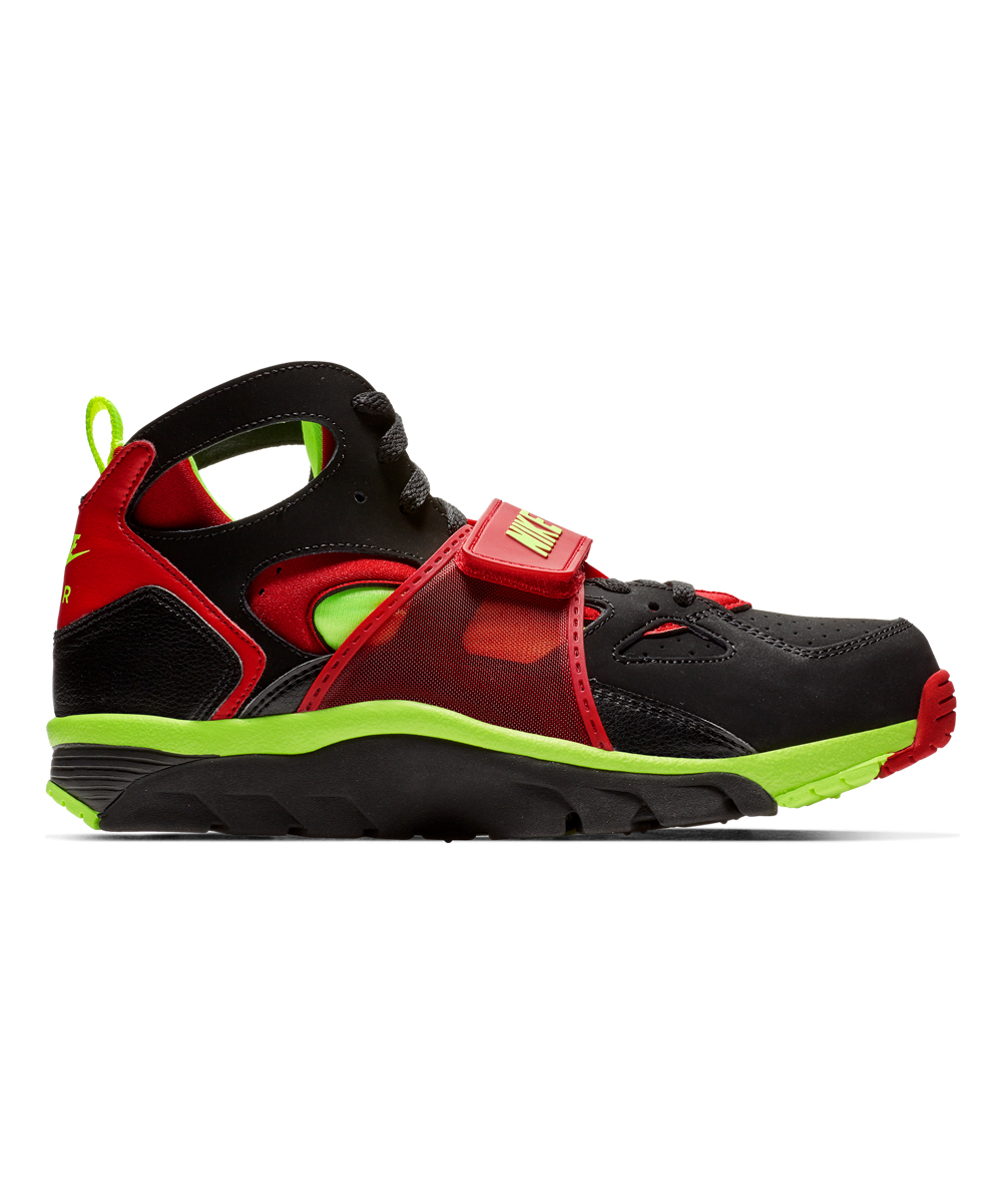 Nike Men's Running Shoes Black/University - Black & University Red Volt Trainer Huarache Running Shoe - Men