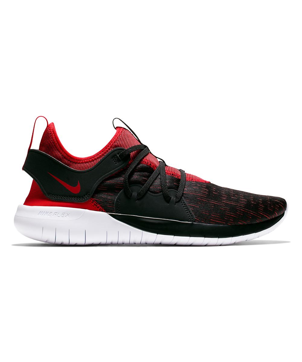 Nike Men's Running Shoes Black/University - Black & University Red Flex Contact 3 Running Shoe - Men