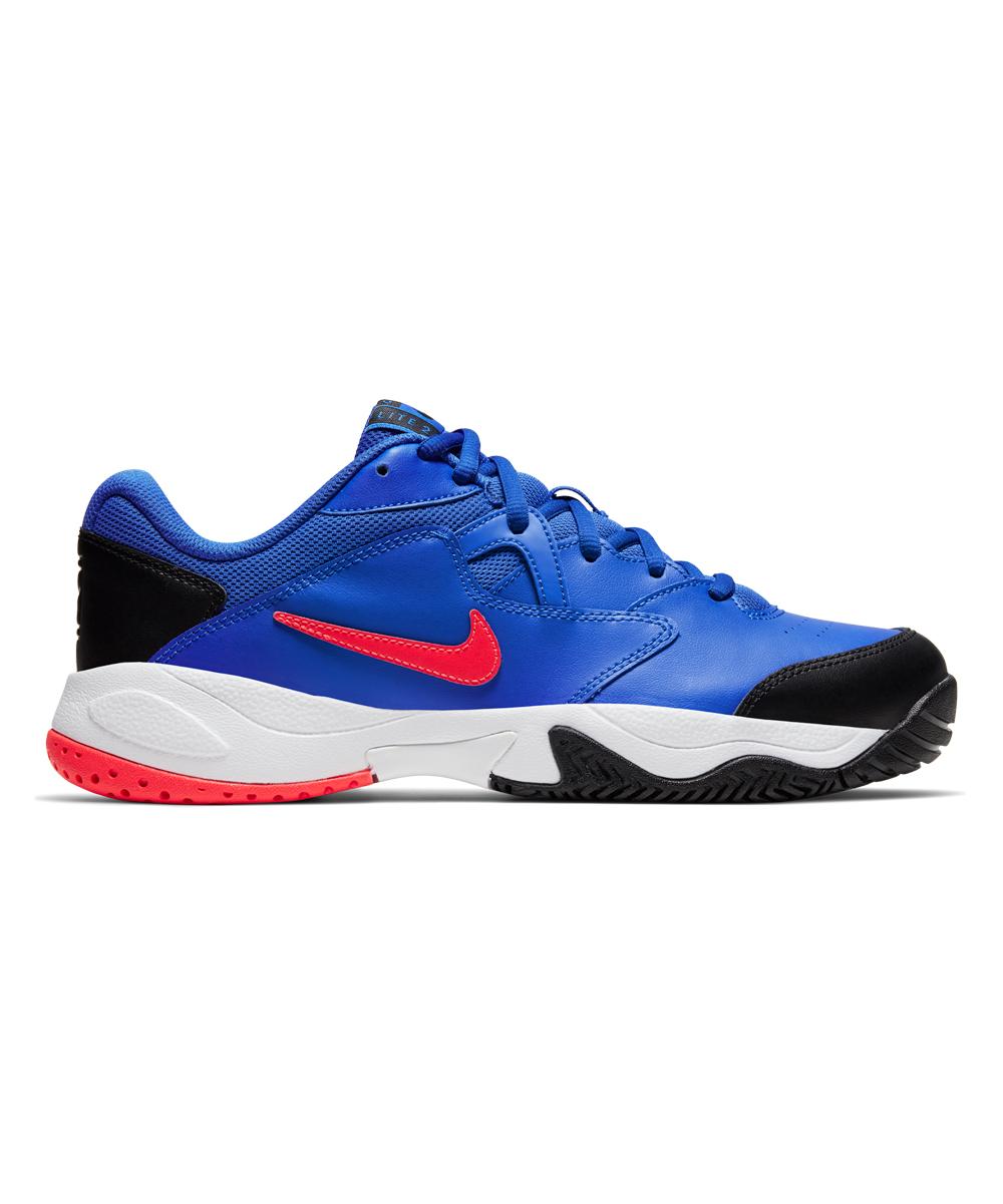 Nike Men's Sneakers Racer - Racer Blue & Bright Crimson Lite 2 Hard Court Leather Sneaker - Men