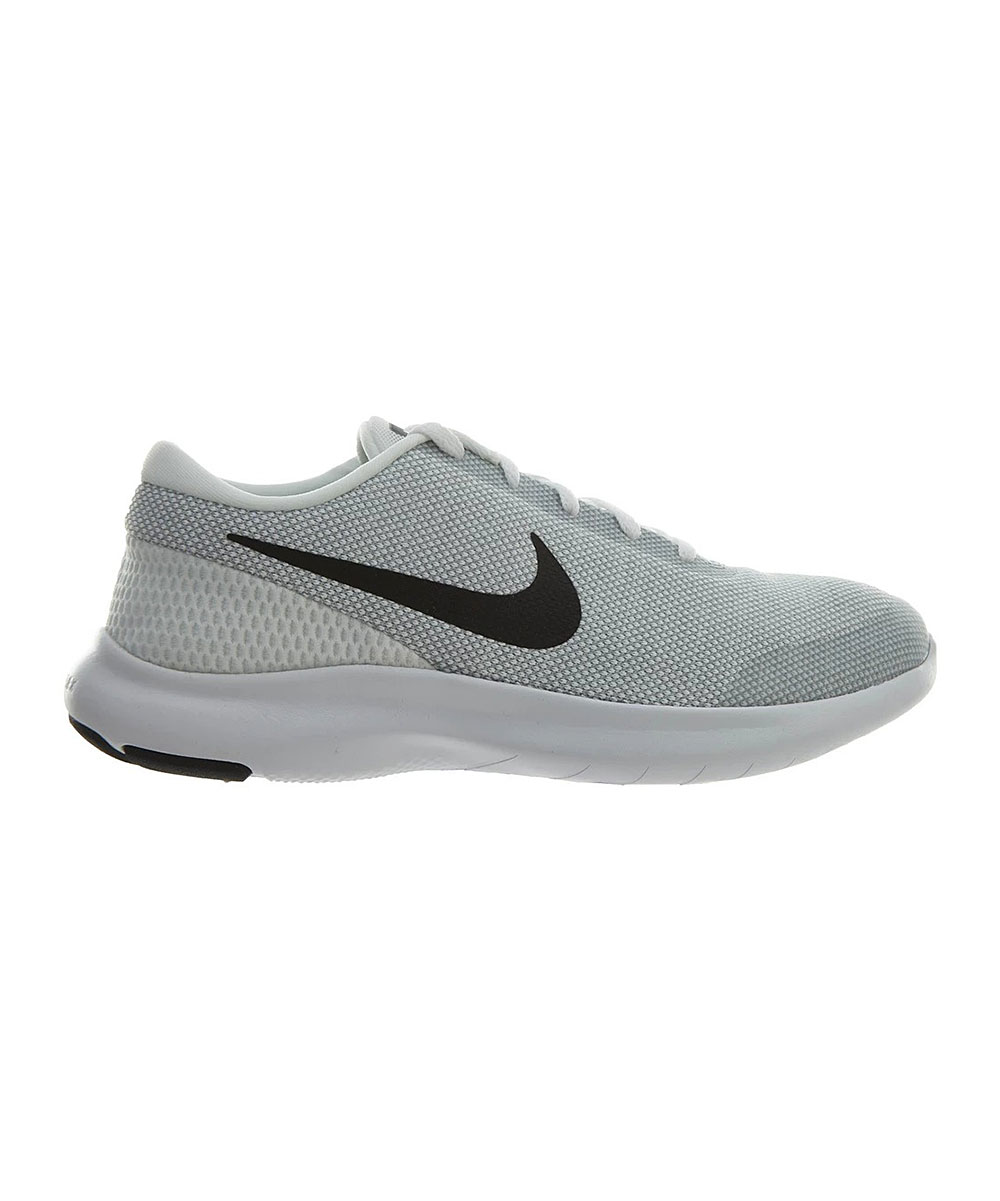 Nike Men's Sneakers White/Black - White & Wolf Gray Flex Experience RN 7 4E Sneaker - Men